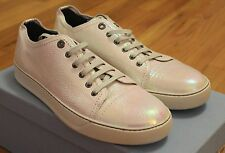 Lanvin Cap Toe Iridescent Leather Sneakers Size 9 UK / 10 US Brand New
