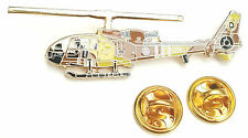 Gazelle Desert Helicopter Side View Enamel Lapel Pin Badge