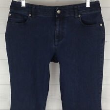Chico's Womens Size 0.5 Short = 6s STRETCH Bootcut Blue Dark Wash Mid RIse Jeans