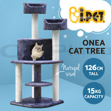 i.Pet Cat Tree Trees Scratching Post Scratcher Tower Condo House Grey 126cm