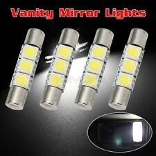 4pcs White 5050 3-LED Car Interior Vanity Mirror Lights Sun Visor Lamps 12V