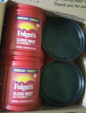 4 Empty Plastic Coffee Containers Folgers Arts & Crafts Storage C My Other Items