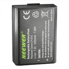 Neewer Battery Pack Replacement for Canon LP-E10 for EOS Rebel T3 EOS 1100D