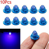 10x Blue T4.7 Neo Wedge LED Bulbs Dash Climate Control Car Instrument Base Light