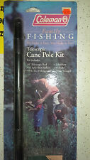 6 Coleman Family Fishing Telescopic Cane Pole Kit Includes Line, Sinkers, Hooks