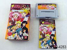 Complete Sailor Moon S Jyougai Rantou Super Famicom Japanese Import US Seller B