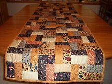 New Bed Runner/Table Runner, Handcrafted & Hand Quilted, Kansas Troubles Fabric