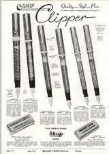 1939 PAPER AD 2 PG The Wasp Fountain Pen Large Standard Size Desk Sets