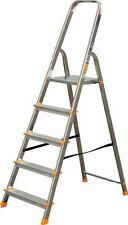 NEU ALU Haushaltsleiter Mehrzweck Klapptrittleiter Leiter 5 Stufen 120kg