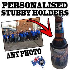 1-100 PERSONALISED WEDDING GIFT STUBBY HOLDER Beer Bottle Cooler custom stubbie