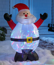 4 Ft Airblown Inflatable Light and Motion Santa Claus Christmas Yard Decoration