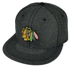 NHL American Needle Chicago Blackhawks Flat Bill Gray Snapback Hat Cap Sports