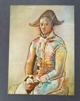 "Pablo Picasso ""Seated Harlequin""  Mounted Offset Color Lithograph 1972"