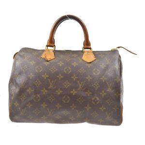 LOUIS VUITTON SPEEDY 30 HAND BAG PURSE MONOGRAM CANVAS M41526 891FC 72469