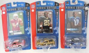 2006 NFL Rookie Edition Player's Card and Team Car Lot Of 3 Leinart, Bush, Young