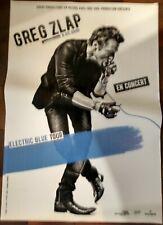 Greg Zlap - Affiche 70x100cm - Electric Blue Tour - envoi roulé