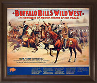 Wild West Buffalo Bill's Western Rough Riders Horses Wall Art Framed Picture
