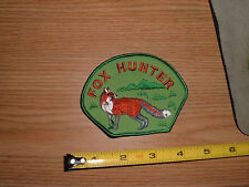 FOX HUNTER HUNTING EMBROIDERED PATCH