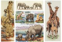 Anchor Counted Cross Stitch Kit - African Wildlife - Meerkats Elephants Giraffe