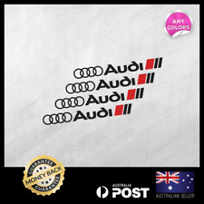 4x Audi Decal Wheel Rims Sticker A3 A4 A5 A6 A8 S4 S5 S6 RS4 TT Decal 125x14mm