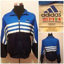 Adidas Mens Vtg 90's Full Zip Windbreaker Track Jacket Lined Size M (E2)