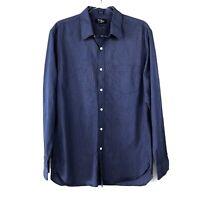 J. Crew Factory Men's Thompson Check Button Up Shirt Blue Size Large