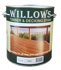 Willows Timber Deck Furniture Window Beams Stain Paint OiL Based 4L Cedar