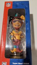 2002 SUPER BOWL XXXVI PART 1 OF 2 LIMITED EDITION JESTER USA BOBBLE HEAD - NIB