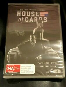 House Of Cards : Season 2 (DVD, 2018, 4-Disc Set) Brand New Sealed in Plastic R4