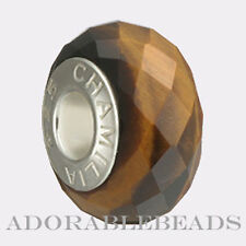 Authentic Chamilia Silver Murano Golden Brown Tiger's Eye Bead XA-1 *Retired*