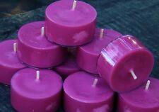 10pk 120hr/pk FRESH MULBERRY Fruit Triple Scented ECO Soy TEA LIGHT CANDLES gift