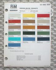 1973 DODGE TRUCK Color Chip Paint Chart Brochure: R-M