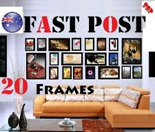 Top 20 pcs Picture Photo Frame Set Wall Colour Black Art Home Decor DIY
