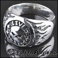 Daumenring Siegel Ring Thorshammer Biker 925 Silber Ring Thor Hammer SR11