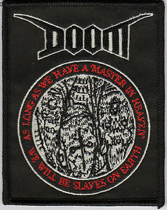 Doom - Slaves On Earth embroidered patch (crust punk d-beat)