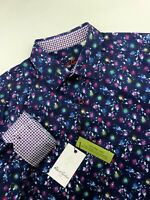 Robert Graham Geometric Check Colorful Print Sport Shirt Mens Sizes M-XL $198