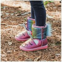 Muk Luks Pastel Averly Unikitten Toddler Boots Girls Winter Boots Size 9 Slip-On