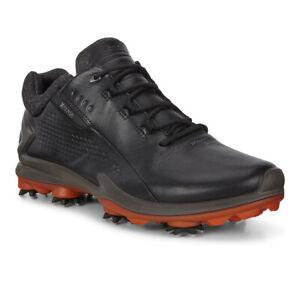 Ecco Biom G3 GoreTex Waterproof Leather Spiked Mens Black Golf Shoes