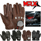 MRX Mens Classic Driving Gloves Soft Genuine Real Cowhide Leather Full Finger