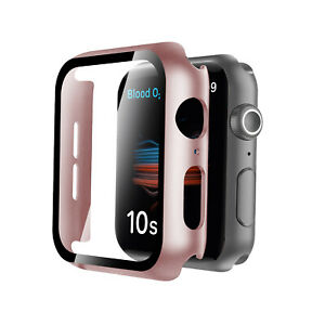 For Apple Watch Series 6/SE/5/4 40/44mm Bumper PC Case  Screen Protector