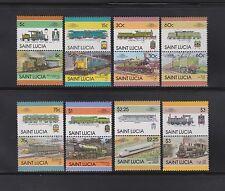 St. Lucia 775-82 ZD + 814-29 ZD wunderschöne Lokomotivsätze komplett postfrisch