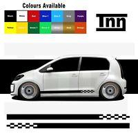 Side Stickers Stripes Decals Vinyl For VW Up! UP Skoda Citigo Seat Mii GTI