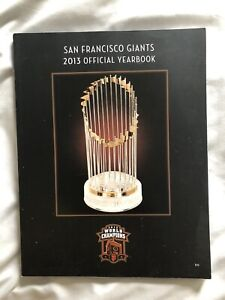SAN FRANCISCO GIANTS 2013 OFFICIAL YEARBOOK 2012 Trophy Posey Bumgarner Crawford