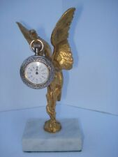 19th Century American Gilt Bronze & Marble Bird Watch Holder