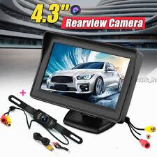 "4.3"" TFT LCD Car Rear View Mirror Monitor Rearview Backup + 135° Reverse Camera"