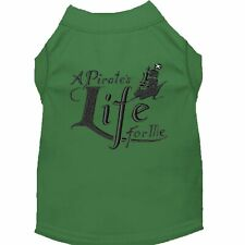 Mirage Pet Products A Pirate's Life Embroidered Dog Shirt Green Lg (14)