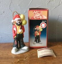 Emmett Kelly Jr. Christmas Ornament Clown Hand Signed Original Box Flambro #9832