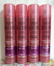LOT OF 4 SALON SELECTIVES ALL DAY CONTROL HOLD HAIRSPRAY FLEXIBLE VOLUME