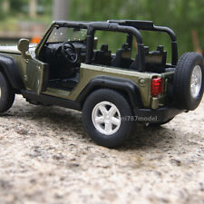 Jeep Wrangler 2007 Rubicon 1:32 Alloy Diecast Car Model Sound&Light Dark green