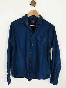 Untuckit Men's Button-Up Shirt   M   Blue